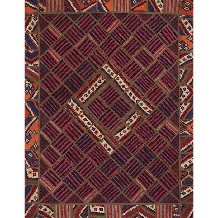 Vintage Patchwork Area Rug 5.1x6.8 - 109392