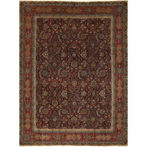 "11'0"" x 15'3"" Old Persian Tabriz Masterpiece Rug - 109373"