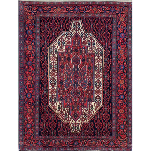 Old Persian Kordish Area Rug 3.11x5.2 - A109368