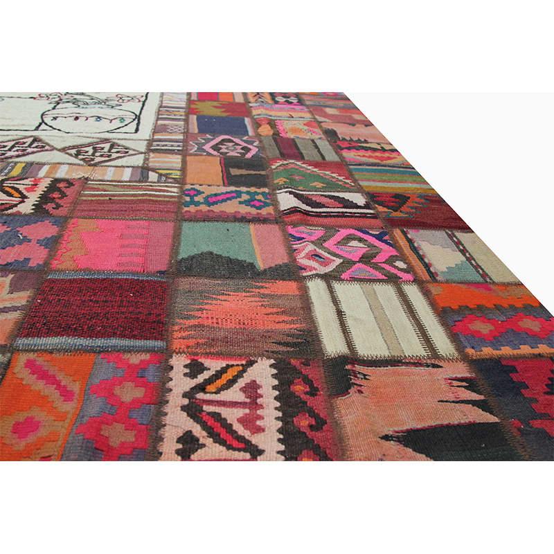 Vintage Persian Patchwork Area Rug 6 7 X 9 10 110107