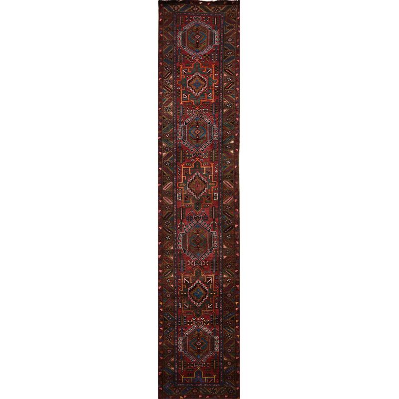 Old Persian Heriz Area Rug 2.10x14.5 - A110277
