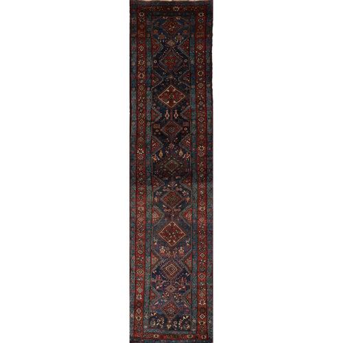 Old Persian Heriz Area Rug 3.2x13.0 - A110401