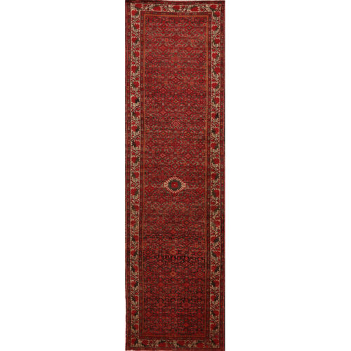 Old Persian Malayer Area Rug 3.5x12.10 - A110567