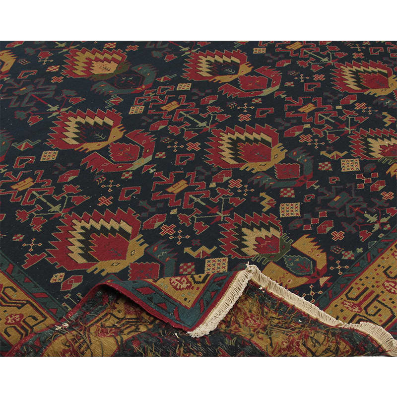 Contemporary Transitional Handwoven Soumak Design Rug 9