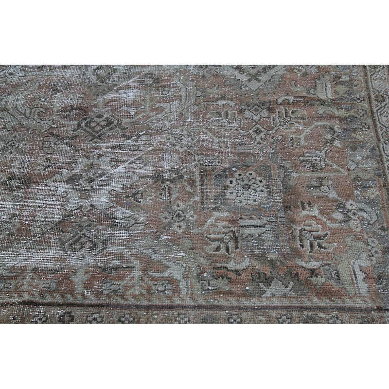 Vintage Distressed Overdyed Persian Sultanabad Area Rug 8