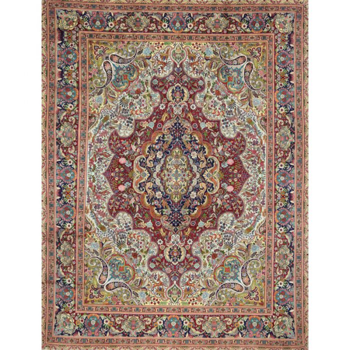 Old Persian Tabriz Area Rug 9.9x13.1 - A110604