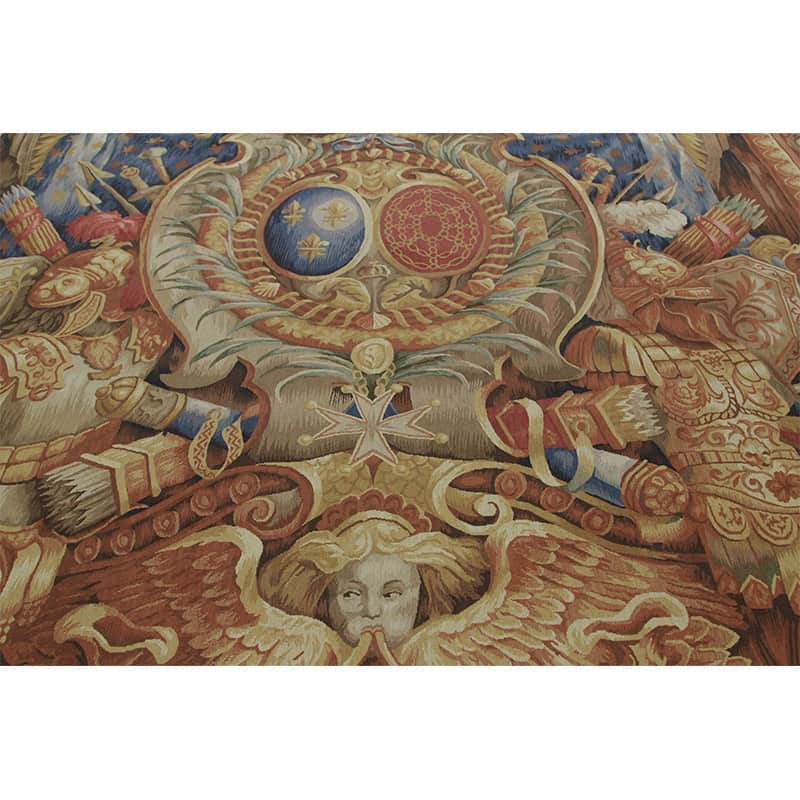 16th Century Tapestry Recreation Quot Elements Of War Quot 9 0x12
