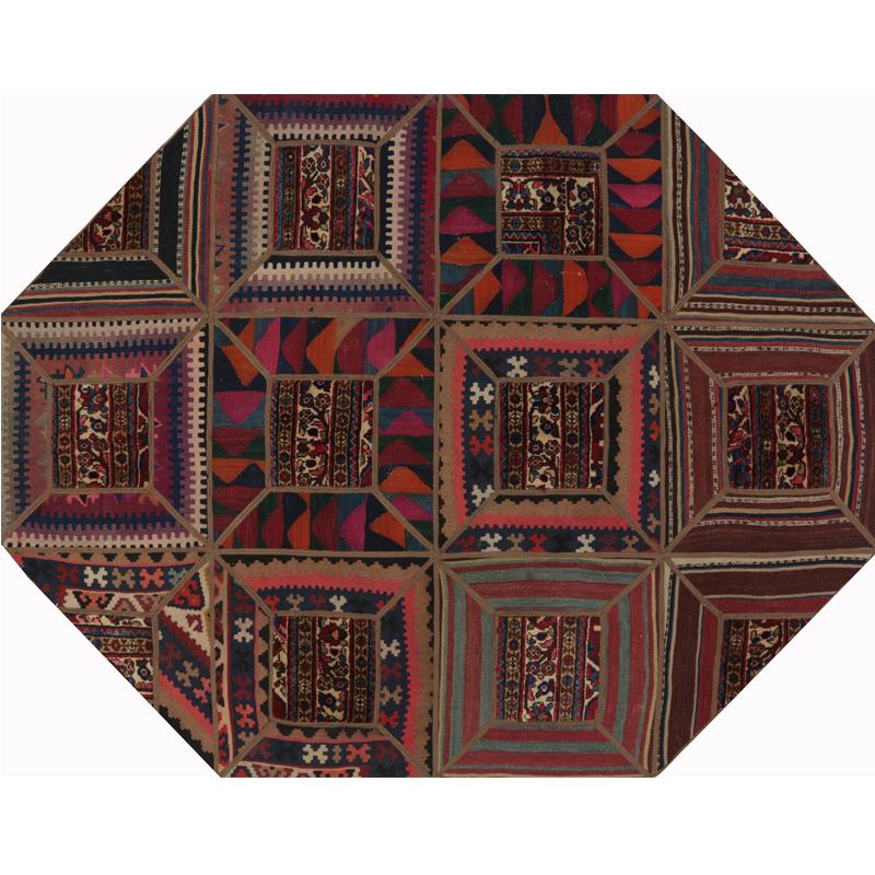 "5'4"" x 7'1"" Persian Patchwork Rug - 109400"