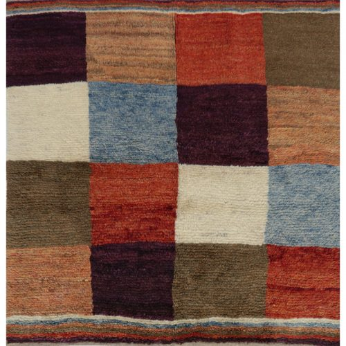 Traditional Hand-woven Persian Gabbeh Tribal Rug 3.6 x 3.8 - 109430