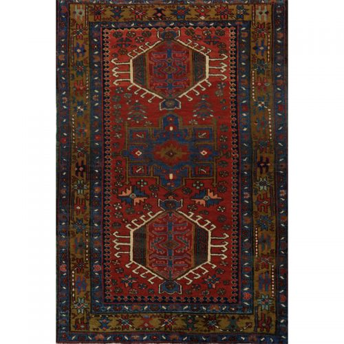 Persian Karajeh Area Rug - 3.2 X 4.8 Multi - 110222
