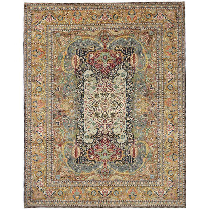"9'10"" x 12'6"" Old Persian Tabriz Masterpiece Rug - 110593"