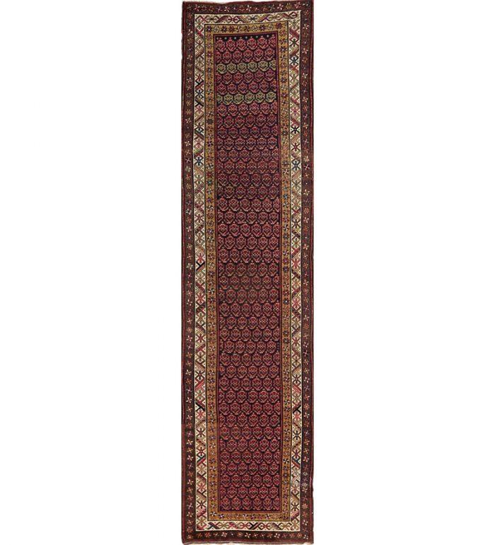 "3'7"" x 15'9"" Antique Persian Sarab Runner - 109073"