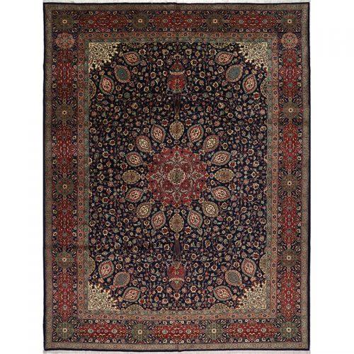 "9'9"" x 12'11"" Old Persian Tabriz Masterpiece Rug - 109388"