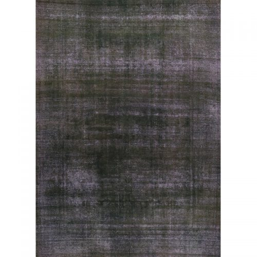 Vintage Distressed Overdyed Persian Tabriz Rug 9.4 x 12.8 - 108902