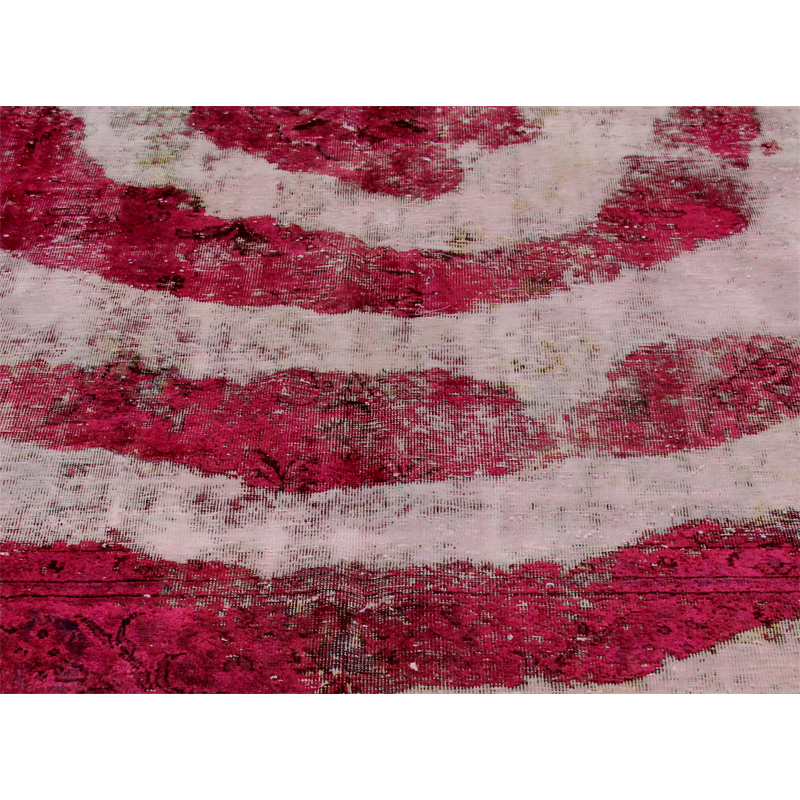 D109719 Vintage Distressed Overdyed Persian Area Rug 6