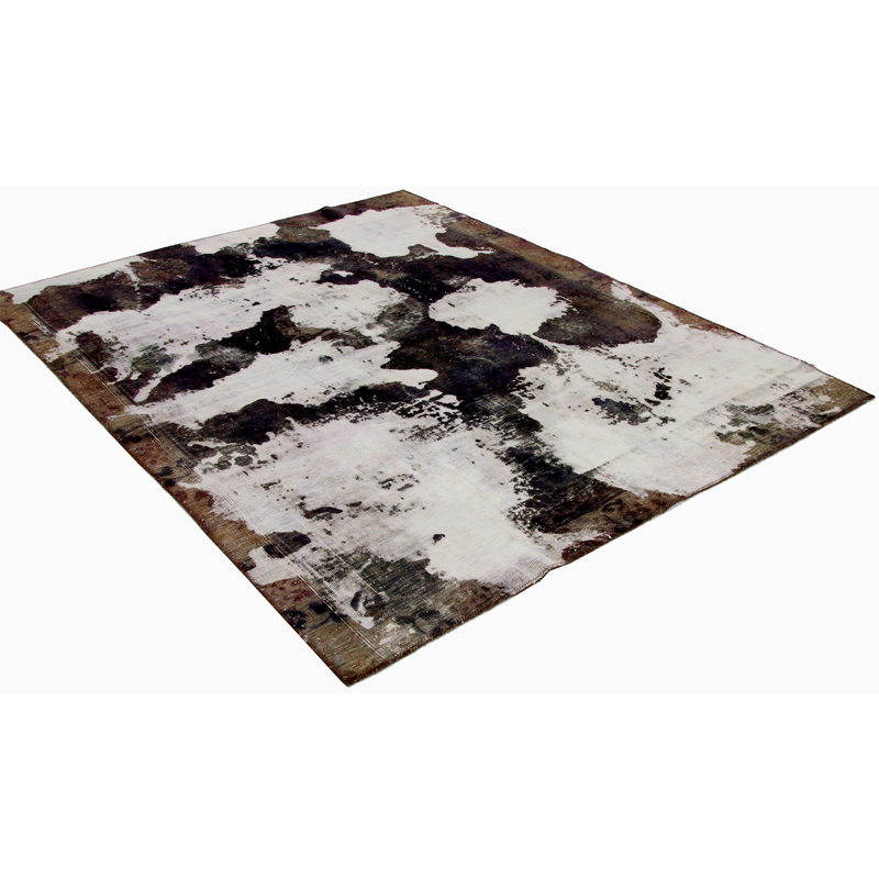 Vintage Distressed Overdyed Persian Area Rug 5 9x7 5