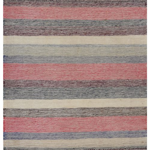 Contemporary Hand-woven Flatweave Persian Kilim Rug 2.7 x 2.9 - 110007