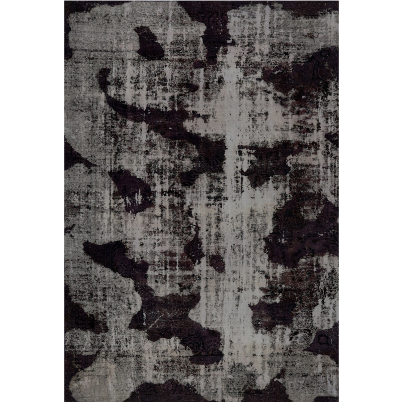 Vintage Distressed Overdyed Persian Area Rug 7 7x11 3
