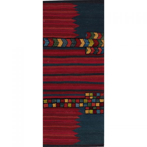 Contemporary Hand-woven Persian Kilim Tribal Rug 2.3 x 5.6 - 109416