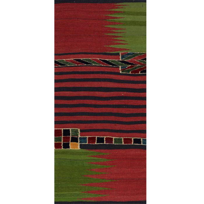 Contemporary Hand-woven Persian Kilim Tribal Rug 2.1 x 6.3 - 109423