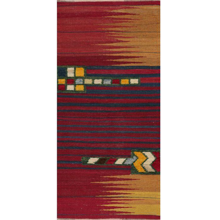 Contemporary Hand-woven Persian Kilim Tribal Rug 2.1 x 5.10 - 109426