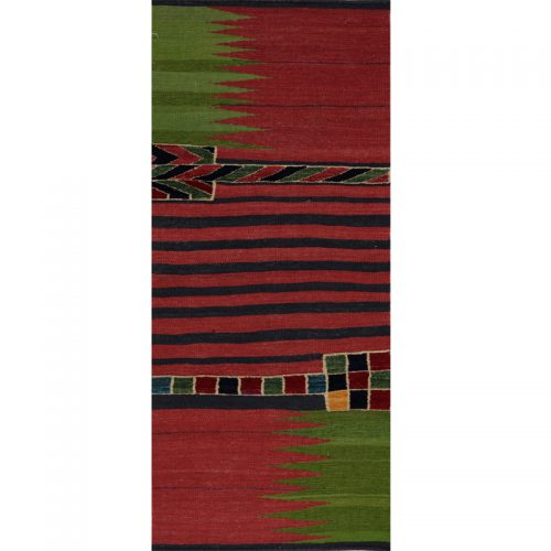 Contemporary Hand-woven Persian Kilim Tribal Rug 2.0 x 6.5 - 109501