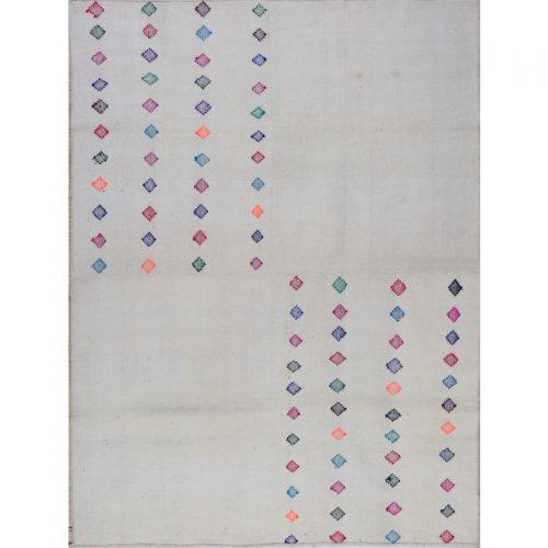 Contemporary Hand-woven Persian Kilim Tribal Rug 5.5 x 7.3- 109525
