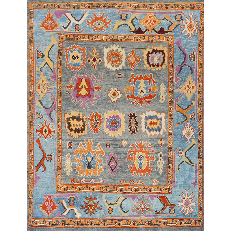 108755 – Traditional Hand-woven Turkish Oushak Rug 9.3 x 11.10