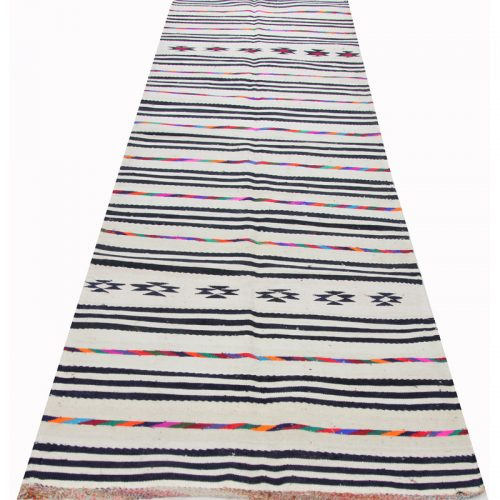 Traditional Flatweave Persian Kilim Tribal Rug 3.3 x 12.1 - 109301