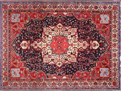 8 x 10 Antique Hand-woven Persian Bakhtiari Rug