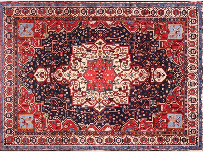 8 x 10 Antique Hand-woven Persian Bakhtiari Rug