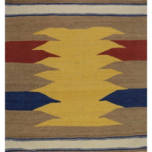 Contemporary Hand-woven Persian Kilim Tribal Rug 4.1 x 4.1- 109506