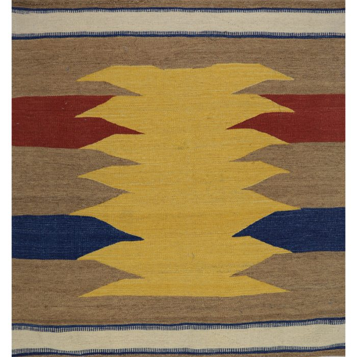 Contemporary Hand-woven Persian Kilim Tribal Rug 4.1 x 4.1 - 109506