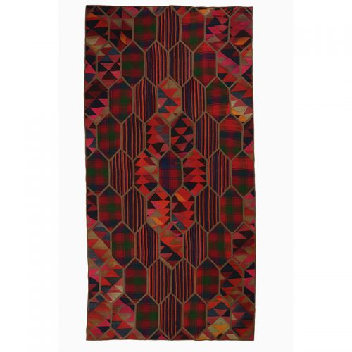 Vintage Patchwork Area Rug 4.7x9.2 - 109397