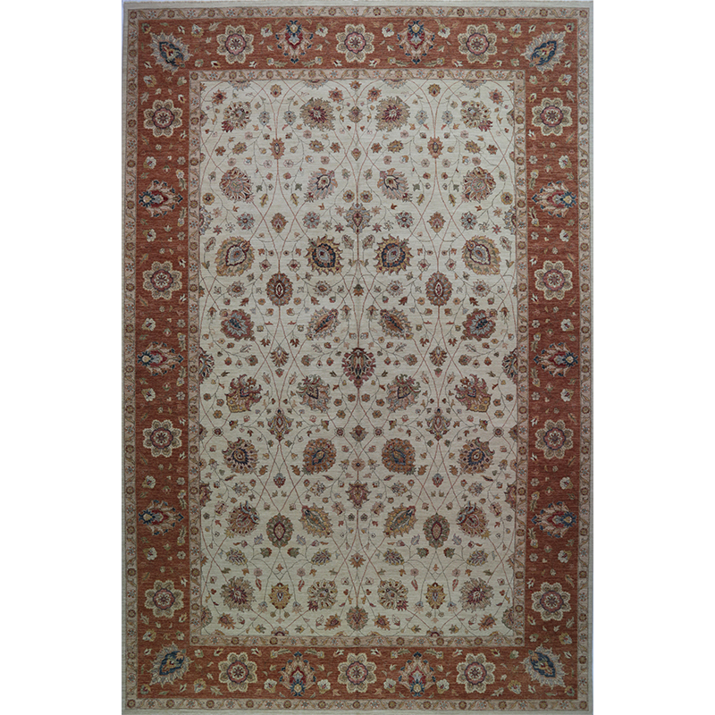 Traditional Handwoven Indian Agra Rug 12.0x18.0