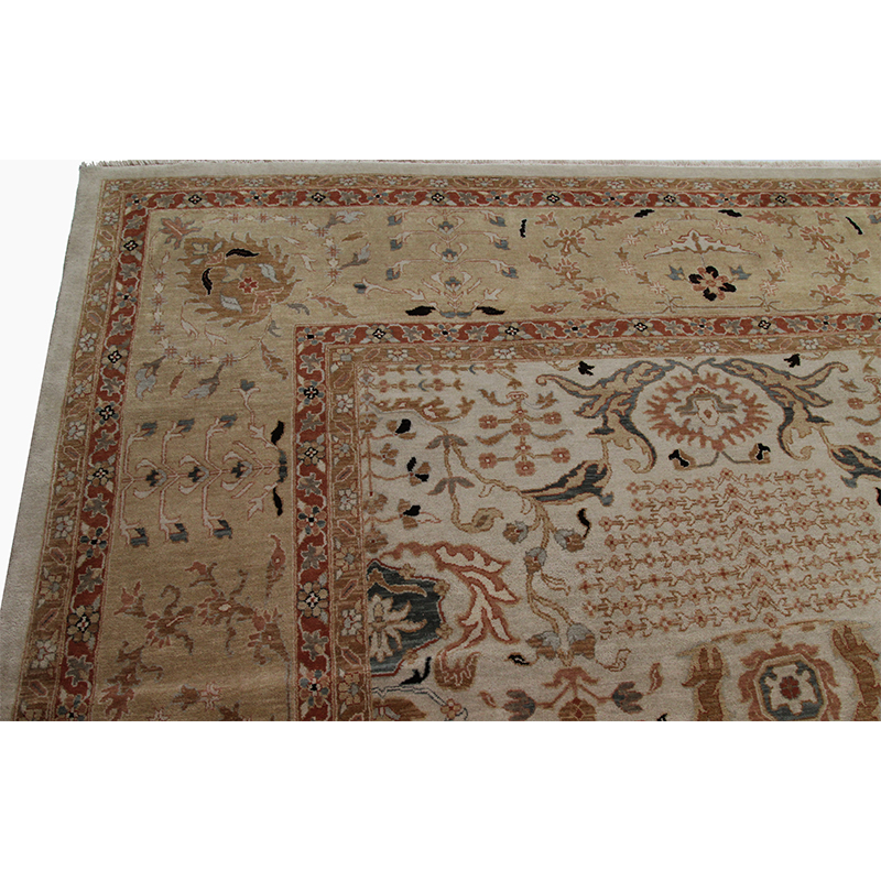 E107541 Traditional Handwoven Indian Agra Rug 11 8x15 0