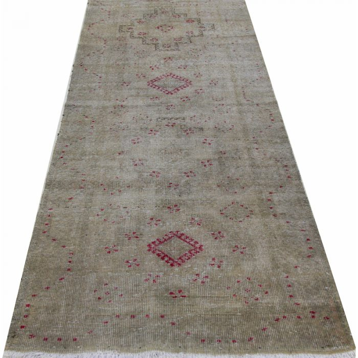 Vintage Distressed Overdyed Persian Sultanabad Rug 3.0 x 9.0 - 110267