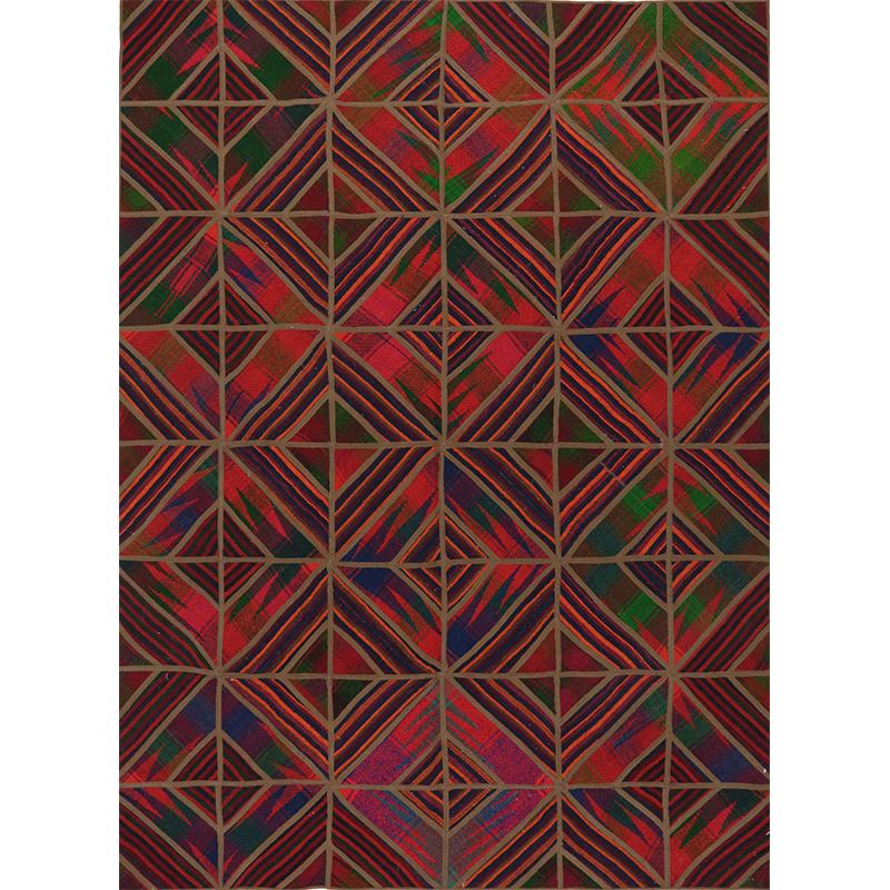Vintage Patchwork Area Rug 4.9x6.6 - 109399