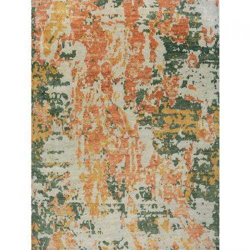 9x12 Modern Abstract Oushak Rug - 500654