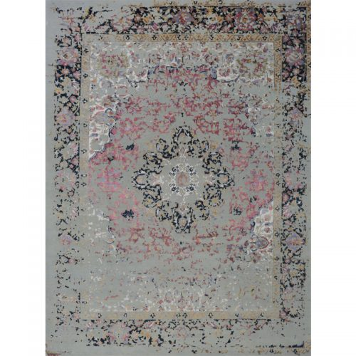 Transitional Wool and Silk Area Rug 9.4x12.5 - 500671