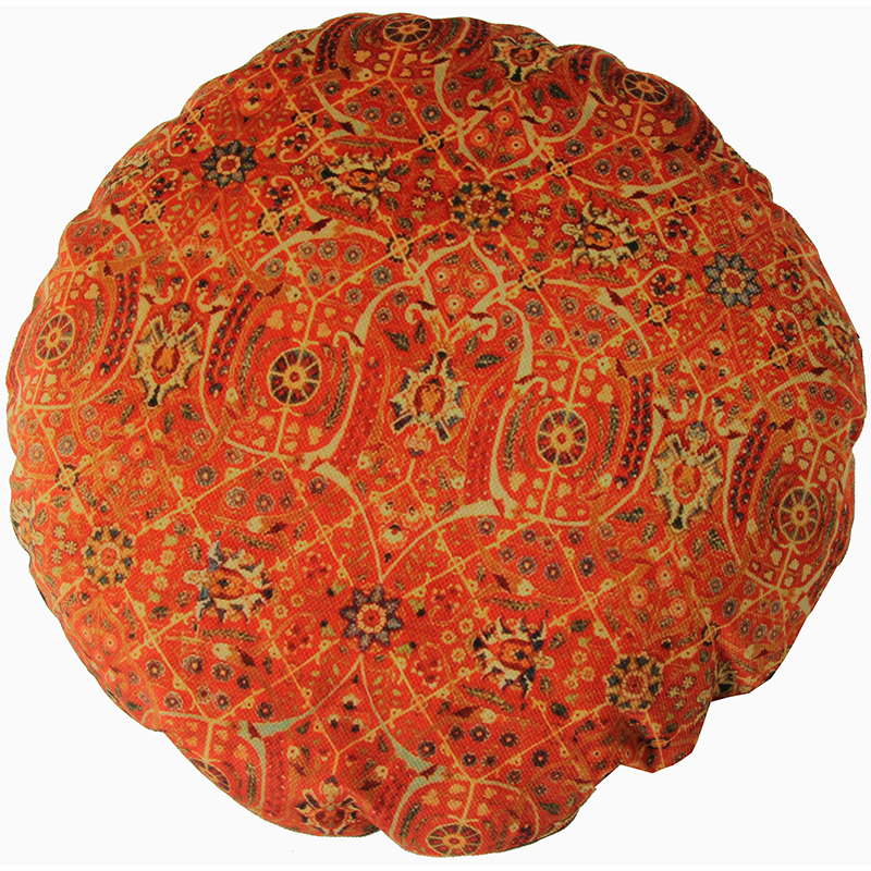 Round Decorative Persian Accent Pillow - 9110845