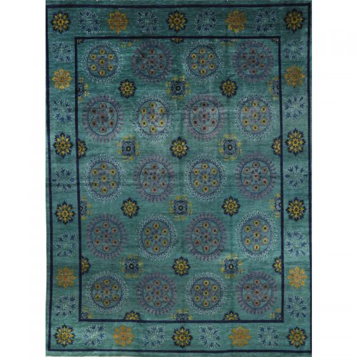 Transitional Suzani Area Rug 12.0x15.10