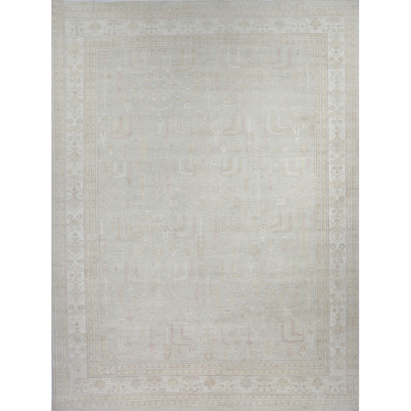 Traditional Handwoven Oushak Style Rug 13.7x17.9 - 500765
