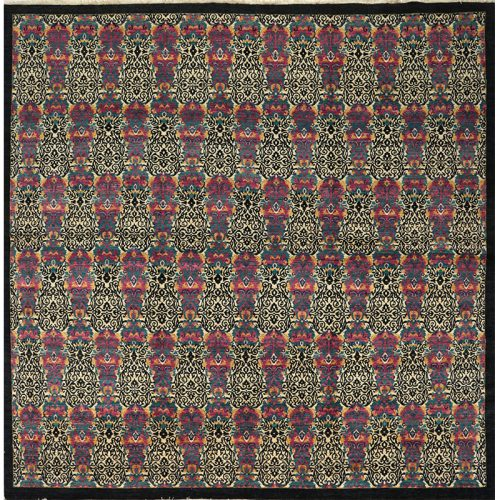 Transitional Suzani Style Area Rug 11.10x12.1 - 500766