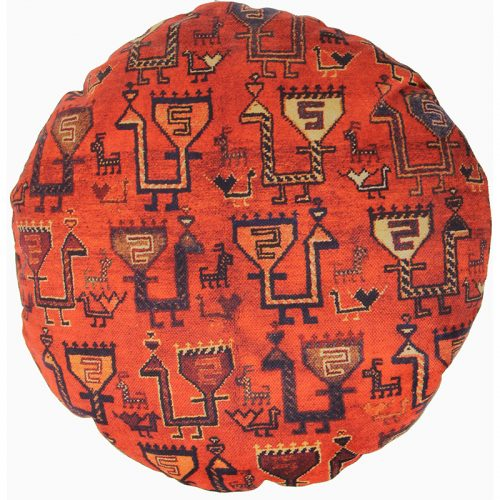 Round Decorative Persian Accent Pillow - 9110834