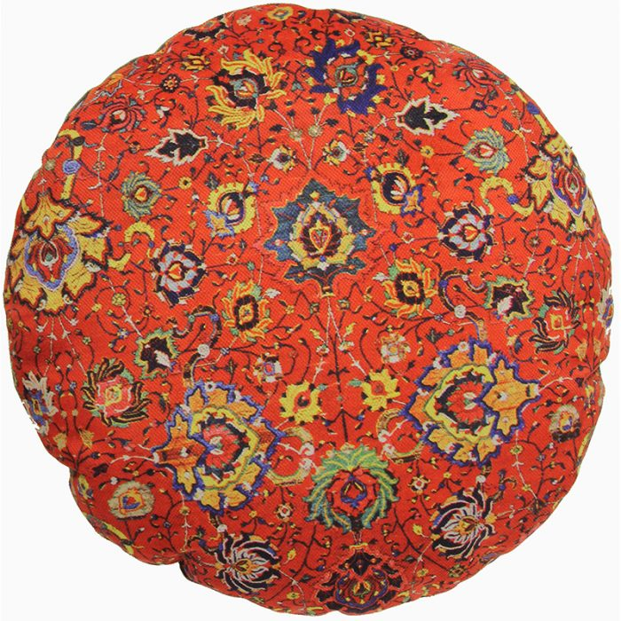 Round Decorative Persian Accent Pillow - 9110839