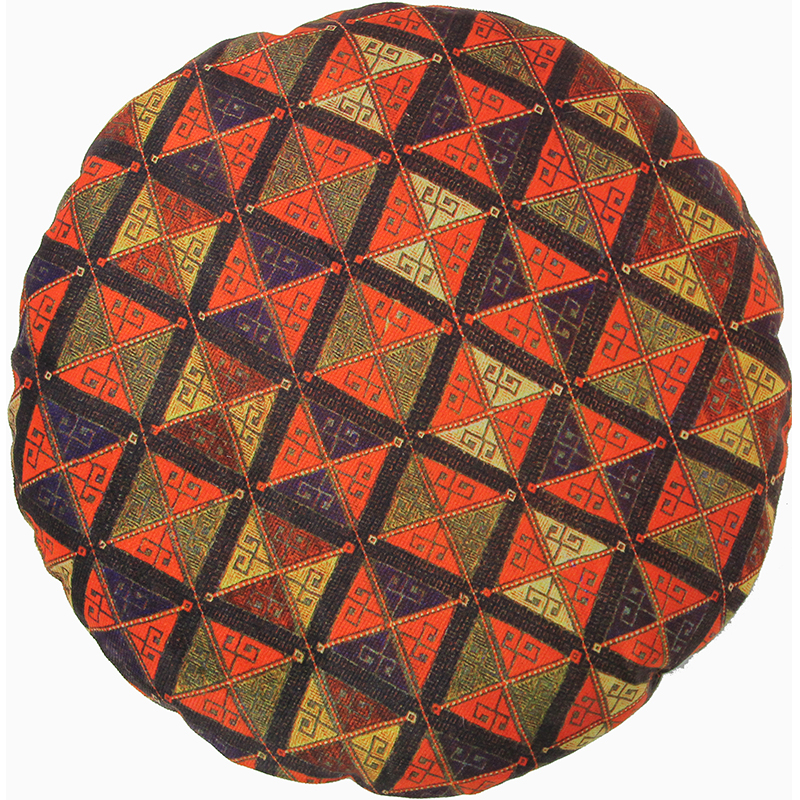 Round Decorative Persian Accent Pillow - 9110840