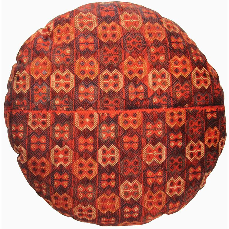 Round Decorative Persian Accent Pillow - 9110842