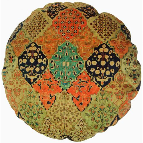 Round Decorative Persian Accent Pillow - 9110843