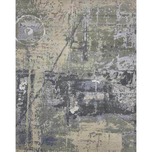 Modern Abstract Area Rug 8.2x10.2 - A500677
